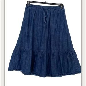 Chambray Denim Skirt  by Woman within Size 16W